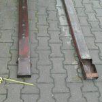 Mobilny spawacz stal czarna widlak spawanie przedłużki wideł Białystok